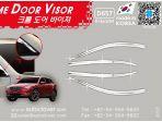 Дефлекторы (ветровики) окон хром для Mazda CX-5 2013-2016